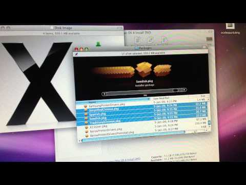 Shrink Mac OS X 10.5 Leopard on single-layer DVD