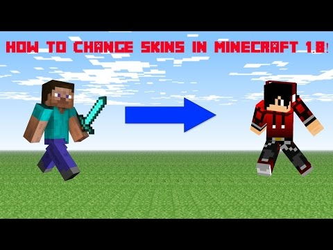 How to change skins in Minecraft 1.8 Cracked Version! [NEW 2015]