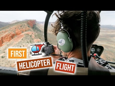 Flying over AUSTRALIA in a HELICOPTER