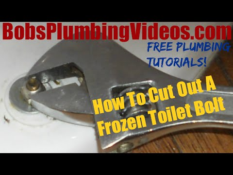 How To Cut Out a Toilet Flange Bolt