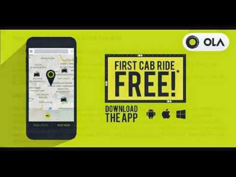 OLA cabs - get Free ride coupon