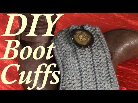 DIY 30 minutes Quick Boot Cuffs, Tutorial, Crochet Pattern
