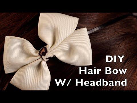 DIY Hair Bow Tutorial - Double Bow on a Headband or Hair Clip