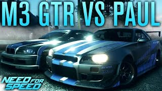 NFS BMW M3 GTR VS PAUL'S SKYLINE | Need for Speed 2015 Gameplay w/ The Nobeds
