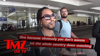 Miguel: Singing The National Anthem Is Too Much Pressure! | TMZ TV