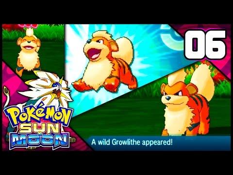 FOUND GROWLITHE! FIRST GEN 7 MASCOT! | Pokemon Sun & Moon Playthrough Episode 6