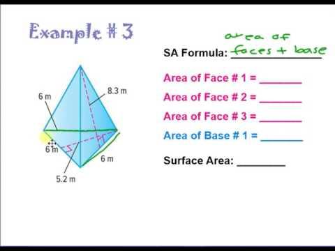 Surface Area of Triangular Pyramids