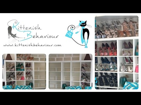 Shoe Storage Hack Using Ikea Shelf Inserts :: Simple How To