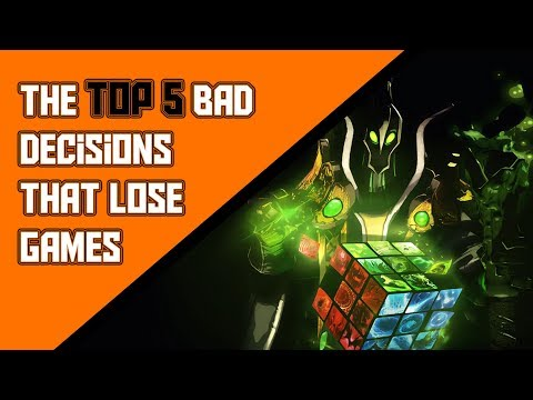 The top 5 bad decisions that lose games