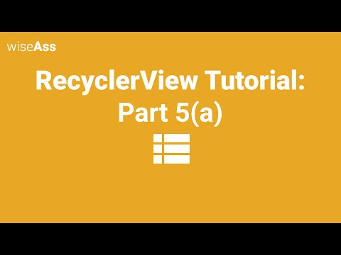 Android RecyclerView Tutorial: Add, Swipe, Delete, Move Animations - Part 5a (Deprecated)