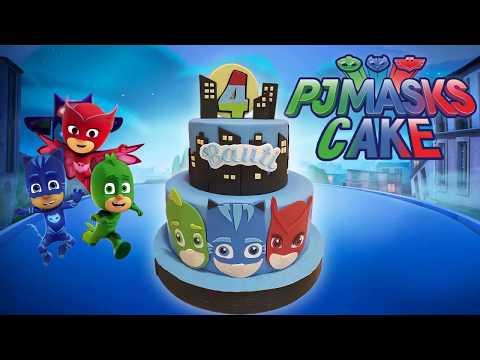 PASTEL HÉROES EN PIJAMAS Paso a Paso 💥  How To Make PJ MASKS Cake!