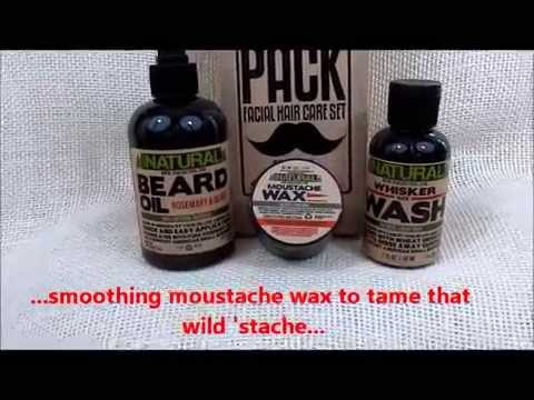 Sam's Natural Beard Pack All Natural Facial Hair Care Set for Men