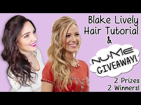 Blake Lively Hair Tutorial & NuMe Giveaway! +Blow Drying Curly Hair Tips