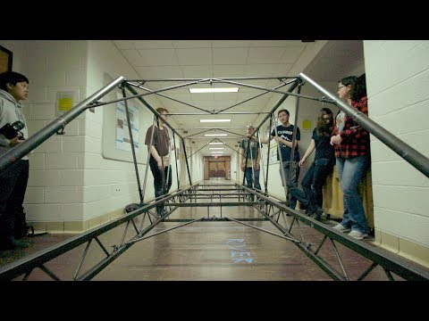 Michigan Tech Huskies Build a Steel Bridge in Seven Minutes (or Less)
