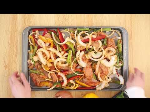 Easy, Oven-Baked Sheet Pan Chicken Fajitas