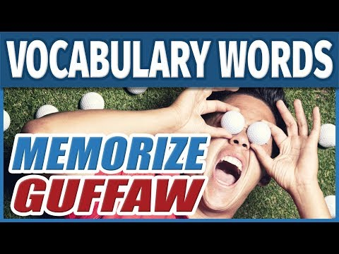 📖  Vocabulary Words - GUFFAW | How to Memorize English SAT Words | Students Learn Memory Training