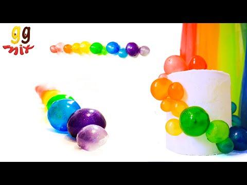 How to make Rainbow Gelatin Bubbles | ggmix
