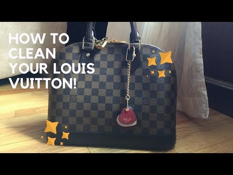 How to Remove White Scuff Marks from Damier Ebene | Cleaning Louis Vuitton Canvas or Treated Leather