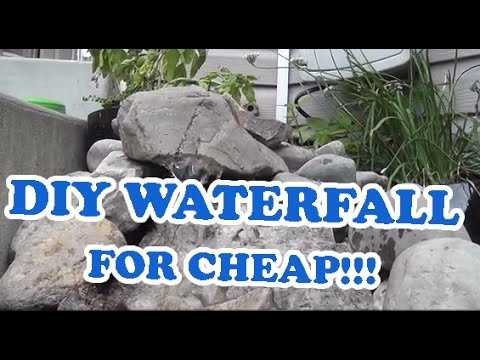 DIY Landscaping Outdoor Pondless Waterfall Pond Project
