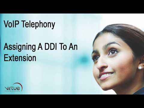 VoIP Telephony: Assigning A DDI To An Extension