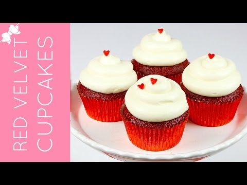 How To Make THE BEST Red Velvet Cupcakes with Cream Cheese Frosting // Lindsay Ann Bakes