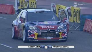 Sebastian Loeb Vs Valentino Rossi - Monza Rally Show 2011