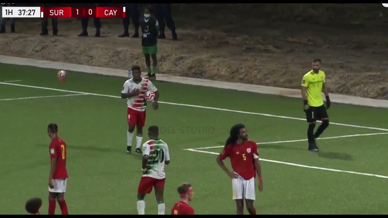 Suriname vs Cayman Islands WK Kwalificatie 2021 - Highlights