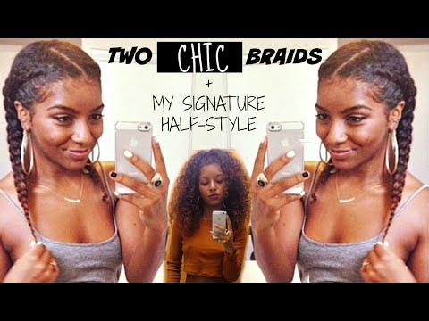 Two Chic Braids | Natural Hair