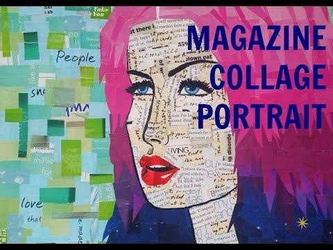 Magazine Collage Portrait Tutorial