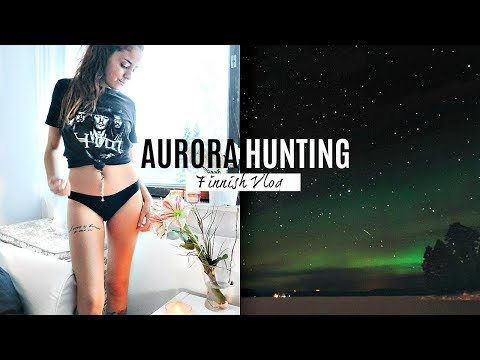 NORTHERN LIGHTS HUNT IN FINNISH LAPLAND! // TRAVEL VLOG