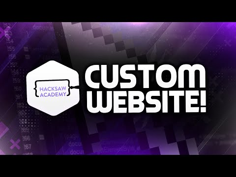 How to Make a CUSTOM Website with Hacksaw Academy! HTML, CSS, JavaScript Basics! (2016)