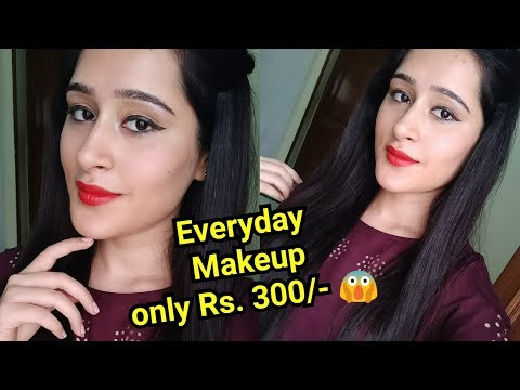 Everyday Summer Makeup Under Rs.300/- Affordable & good quality Makeup products