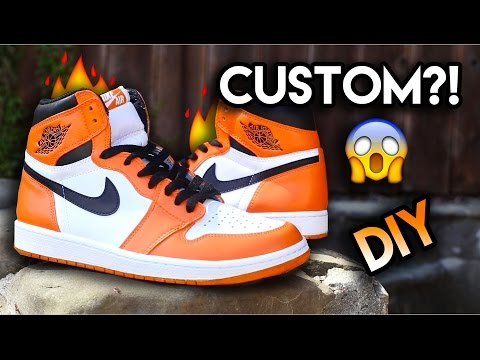 How To: Jordan Reverse Shattered Backboard Custom From Yin Yang 1's | Full Conversion + On Feet