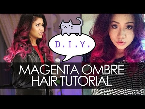 MAGENTA/PINK OMBRE HAIR DYE TUTORIAL ✿ Highly requested! ♥