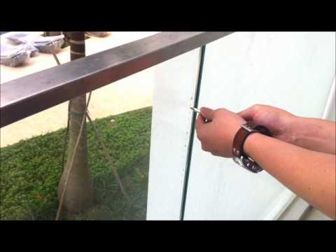 Demo on Tempered Glass Balcony Railing