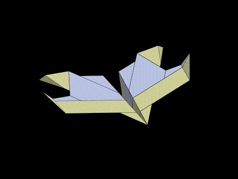 Eagle Paper Airplane: 3D Folding