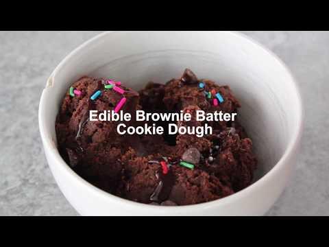 Edible Brownie Batter Cookie Dough