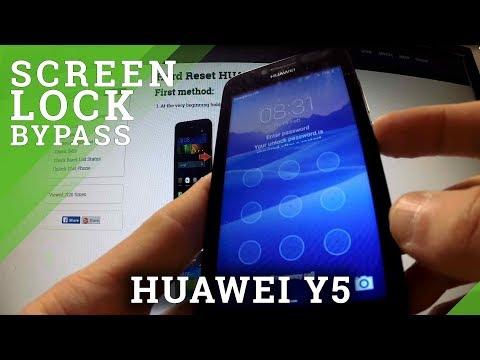 Hard Reset HUAWEI Y5 - bypass lock screen pattern