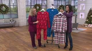 Carole Hochman Waffle Fleece Novelty Pajama Set On Qvc