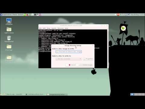 Burning ISO images to disc In  Linux برامج نسخ الأقراص على لينكس