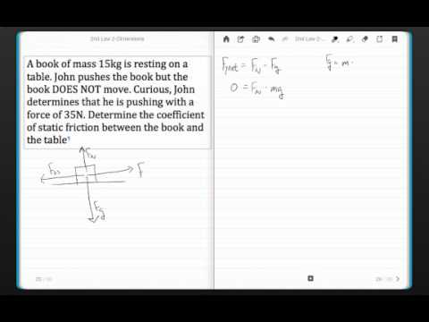 Static Friction Example-Finding Coefficient of Friction