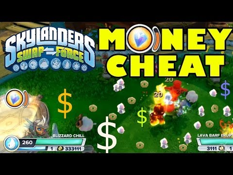 Skylanders Swap Force Money Cheat / Upgrade Fast ($$$ Hack / Trick / Tip w/ Sky Diamond)