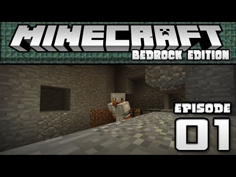 FIRST STREAM!! - Let's Play Ep. 01 - Minecraft Bedrock Edition