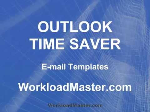 Use Outlook Email Templates to Save Time