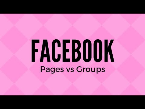 FB Page vs Group