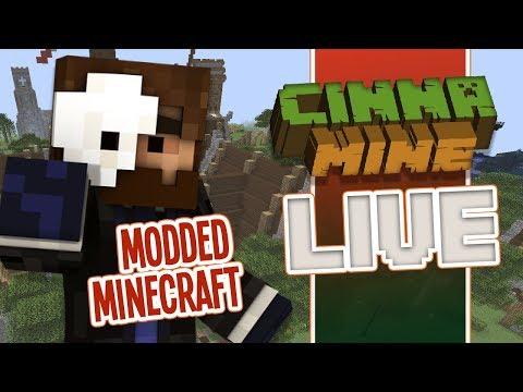 Live Modded Minecraft - Cinnamine with TheFuzzyMole!