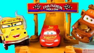 Disney Cars 3 Thunder Hollow Challenge With Lightning McQueen Mater Cruz Ramirez Pixar Miss Fritter