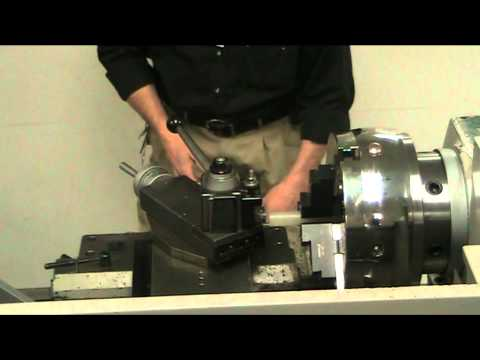 Setting up the Tool and installing material in a Lathe