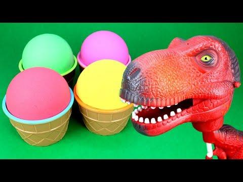Dinosaur Surprise Opening T-Rex Kinetic Sand Ice Cream Surprise Paw Patrol Mashems Minions Mineez