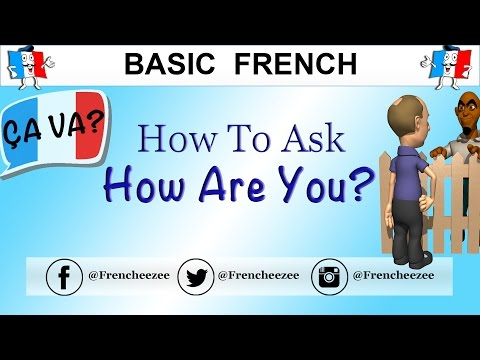 8 WAYS TO ASK HOW ARE YOU IN FRENCH